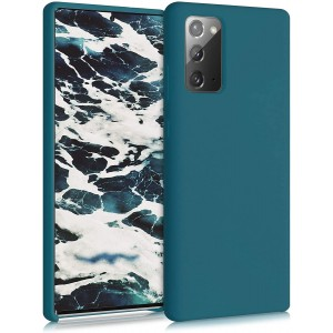 KWmobile Θήκη Σιλικόνης Samsung Galaxy Note 20 - Soft Flexible Rubber Cover - Teal Matte