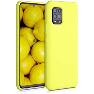 KWmobile Θήκη Σιλικόνης Xiaomi Mi 10 Lite - Soft Flexible Rubber Cover - Yellow Matte