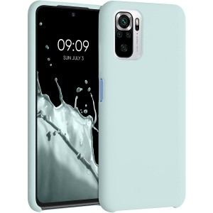 KWmobile Θήκη Σιλικόνης Xiaomi Redmi Note 10 / Note 10S - Soft Flexible Rubber Cover - Frosty Mint