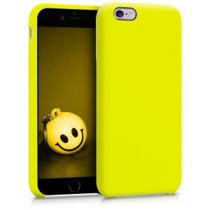 KW Θήκη Σιλικόνης Apple iPhone 6 / 6S - Soft Flexible Rubber Protective Cover - Lemon Yellow