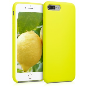KW Θήκη Σιλικόνης Apple iPhone 7 Plus / 8 Plus - Soft Flexible Rubber Protective Cover - Lemon Yellow