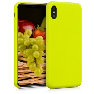 KW Θήκη Σιλικόνης Apple iPhone XS Max - Soft Flexible Rubber Protective Cover - Lemon Yellow