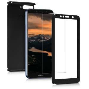 KW Θήκη Full Body για Huawei Y6 2018 & Tempered Glass - Black