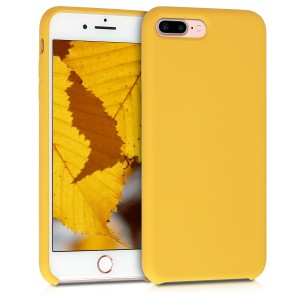 KW Θήκη Σιλικόνης Apple iPhone 7 Plus / 8 Plus - Soft Flexible Rubber Protective Cover - Honey Yellow
