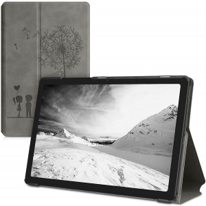 """W Θήκη Samsung Galaxy Tab A7 10.4"""" T500 / T505 - PU Leather Smart Cover Protective Tablet Case with Stand - Dandelion Love / Grey"""
