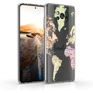KW Θήκη Σιλικόνης Xiaomi Poco X3 Pro / X3 NFC - Travel / Black / Multicolor / Transparent