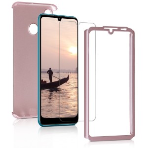 KW Θήκη Full Body Huawei P30 Lite & Tempered Glass - Metallic Rose Gold