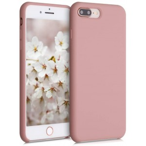 KWmobile Θήκη Σιλικόνης iPhone 8 Plus / 7 Plus - Soft Flexible Rubber Cover - Rose Tan