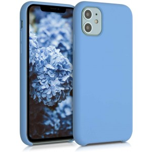KWmobile Θήκη Σιλικόνης Apple iPhone 11 - Soft Flexible Rubber Cover - Heritage Blue