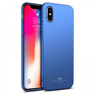 MSVII Super Slim Σκληρή Θήκη PC iPhone X / XS - Blue