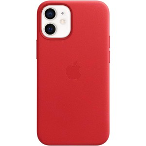 Official Apple Leather Case - Δερμάτινη Θήκη με MagSafe Apple iPhone 12 mini - Red