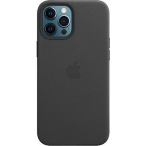 Official Apple Leather Case - Δερμάτινη Θήκη με MagSafe Apple iPhone 12 Pro Max - Black