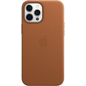 Official Apple Leather Case - Δερμάτινη Θήκη με MagSafe Apple iPhone 12 Pro Max - Saddle Brown