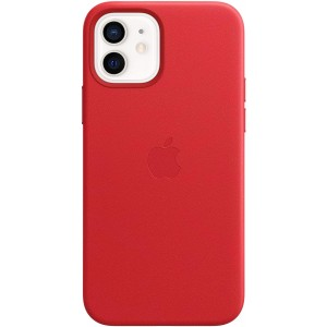 Official Apple Leather Case - Δερμάτινη Θήκη με MagSafe Apple iPhone 12 / 12 Pro - Red