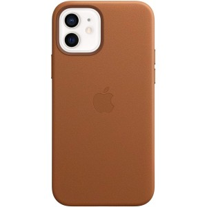 Official Apple Leather Case - Δερμάτινη Θήκη με MagSafe Apple iPhone 12 / 12 Pro - Saddle Brown