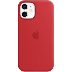 Official Apple Θήκη Σιλικόνης με MagSafe Apple iPhone 12 mini - Red