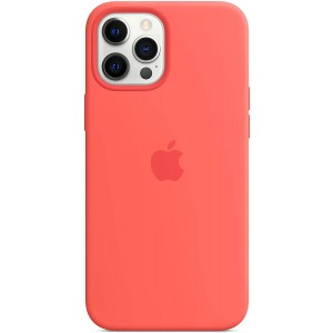 Official Apple Θήκη Σιλικόνης με MagSafe Apple iPhone 12 Pro Max - Pink Citrus