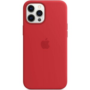 Official Apple Θήκη Σιλικόνης με MagSafe Apple iPhone 12 Pro Max - Red
