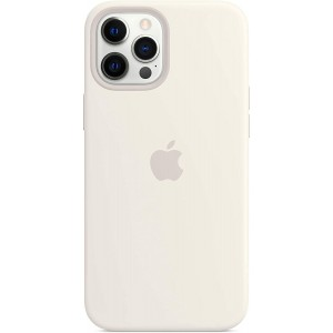 Official Apple Θήκη Σιλικόνης με MagSafe Apple iPhone 12 Pro Max - White