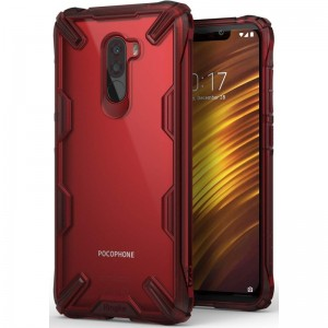 Ringke Fusion X Θήκη Xiaomi Pocophone F1 - Ruby Red