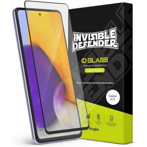 Ringke Invisible Defender ID Tempered Glass - Premium Full Cover Αντιχαρακτικό Γυαλί Οθόνης Samsung Galaxy A72 - Black