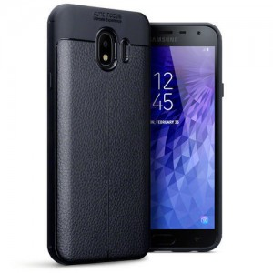 Terrapin Θήκη TPU Leather Design Samsung Galaxy J4 2018 - Black
