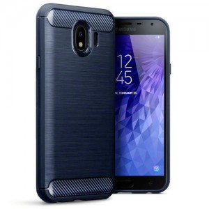 Terrapin Θήκη Σιλικόνης Carbon Fibre Design Samsung Galaxy J4 2018 - Dark Blue