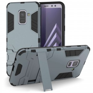 Caseflex Θήκη Armour Combo Stand Samsung A8 Plus 2018 - Steel Blue