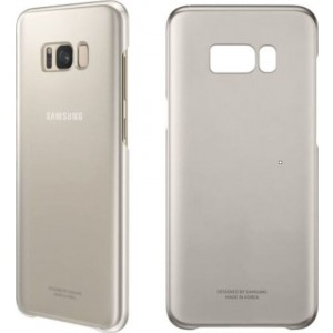 Samsung Official Ημιδιάφανη Σκληρή Θήκη Clear Cover Galaxy S8 Plus - Gold