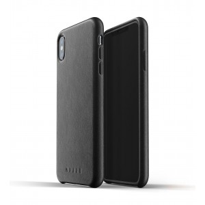 MUJJO Full Leather Case - Δερμάτινη Θήκη iPhone XS Max - Black