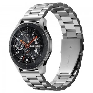 Spigen Modern Fit Μεταλλικό Λουράκι Galaxy Watch 46mm - Silver