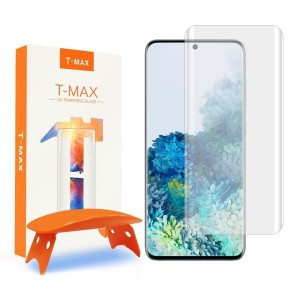 T-MAX Liquid Full Glue 3D Tempered Glass - Σύστημα Προστασίας Οθόνης Samsung Galaxy S20