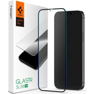 Spigen Tempered Glass GLAS.tR Slim HD - Fullface Αντιχαρακτικό Γυαλί Οθόνης Apple iPhone 12 Pro Max - Black
