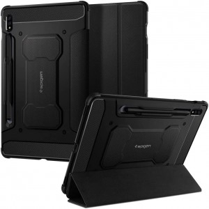 "Spigen Θήκη Rugged Armor Pro Samsung Galaxy Tab S7 11"" T870 / T875 - Black"