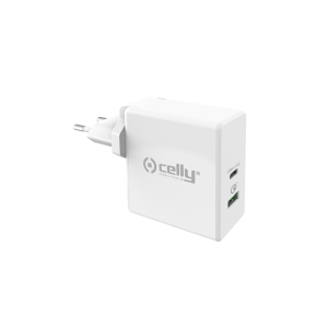 Celly Qualcomm Quick Charge 30W Διπλός Φορτιστής USB-C + USB-A - White (TCUSBC30WWH)