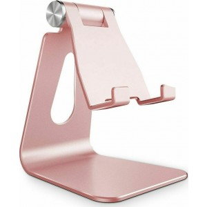 "Tech-Protect Z4A Universal Stand Holder - Βάση Αλουμινίου για Smartphone / Tablet 4""-8"" - Rose Gold"