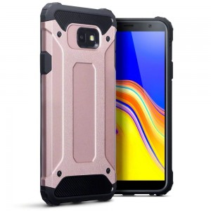 Terrapin Ανθεκτική Θήκη Double Layer Impact Samsung Galaxy J4 Plus 2018 - Rose Gold