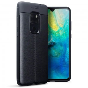 Terrapin Θήκη TPU Leather Design Huawei Mate 20 - Black