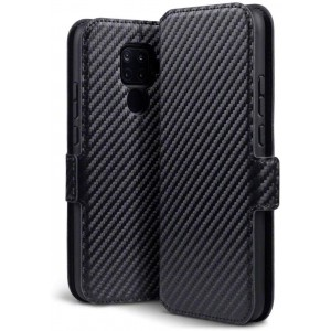 Terrapin Low Profile Θήκη - Πορτοφόλι Carbon Fibre Huawei Mate 30 Lite - Black