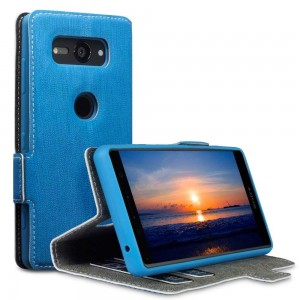 Terrapin Low Profile Θήκη - Πορτοφόλι Sony Xperia XZ2 Compact - Light Blue