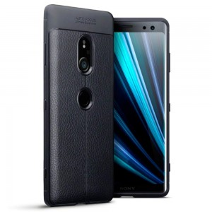 Terrapin Θήκη TPU Leather Design Sony Xperia XZ3 - Black
