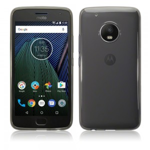 Θήκη Σιλικόνης Motorola Moto G5 Plus - Smoke Black