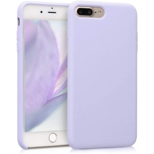 KW Θήκη Σιλικόνης iPhone 7 Plus / 8 Plus - Soft Flexible Rubber Cover - Light Lavender