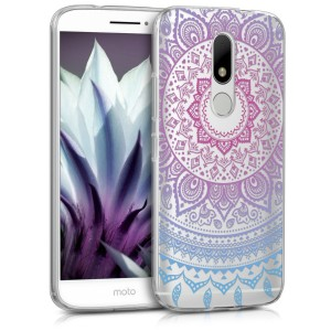 Θήκη Σιλικόνης Motorola Moto M - Blue Dark/ Pink Indian Sun