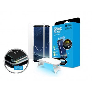 Whitestone Dome Glass - Liquid Optical Clear Adhesive & Installation Kit - Σύστημα προστασίας οθόνης Samsung Galaxy S9 Plus