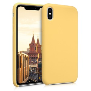KW Soft Flexible Rubber Θήκη Σιλικόνης iPhone XS Max - Yellow Matte