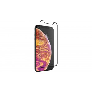 Zagg Invisible Shield glass & Curved Full Face iPhone XS Max - Black Finish