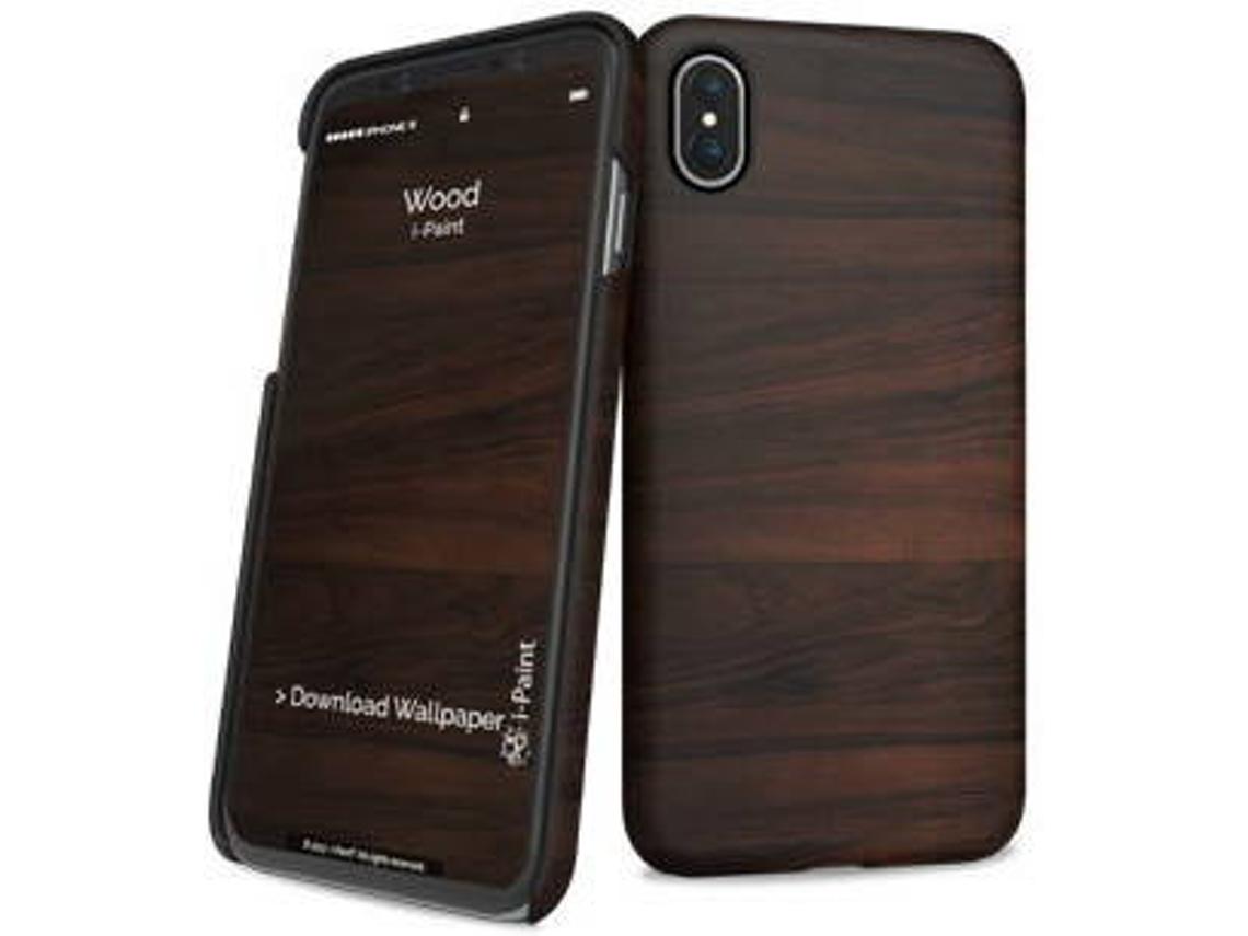 i-Paint Slim Σκληρή Θήκη iPhone X / XS - Wood (860109)