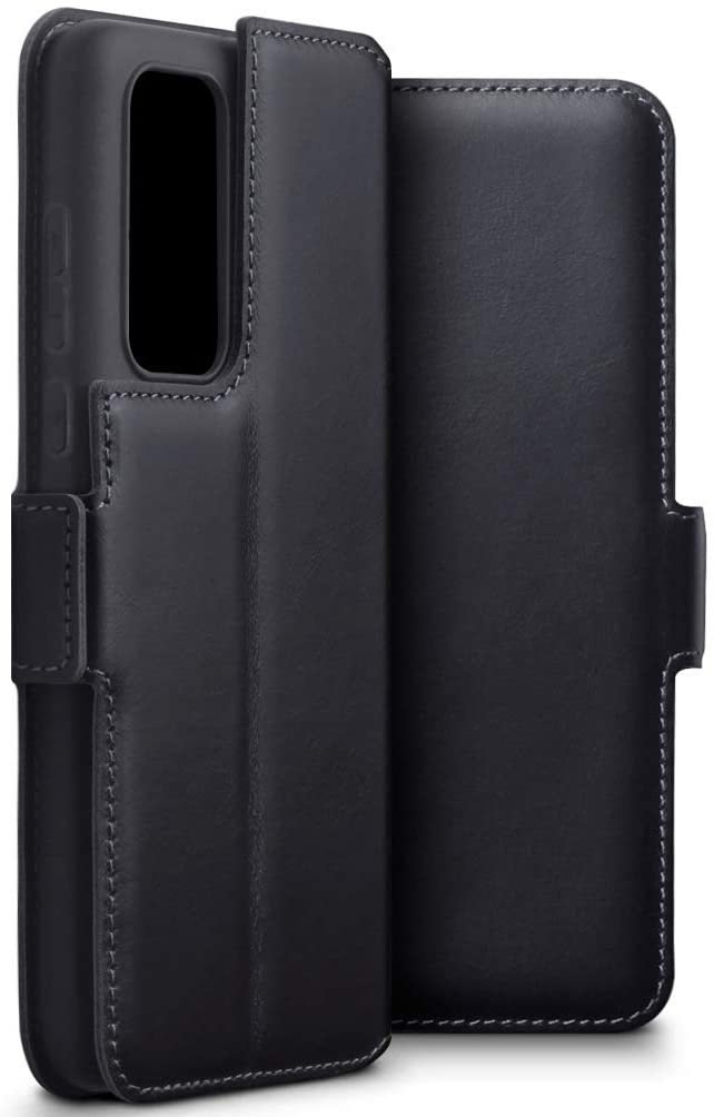 Terrapin Δερμάτινη Θήκη - Πορτοφόλι Huawei P40 Pro - Black (117-083-246)