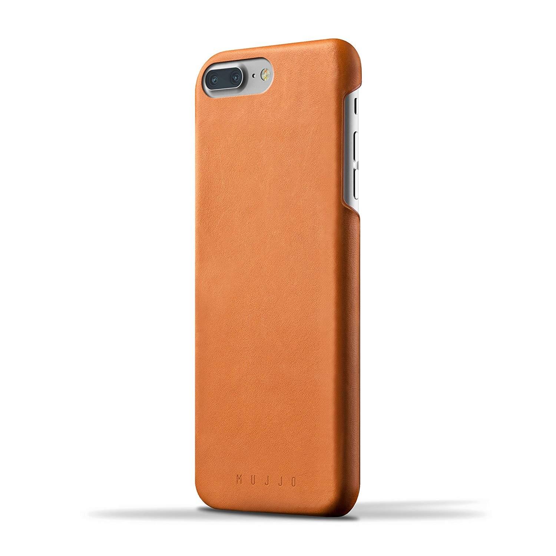 MUJJO Full Leather Case - Δερμάτινη Θήκη iPhone 8 Plus / 7 Plus - Tan (MUJJO-CS-074-TN)